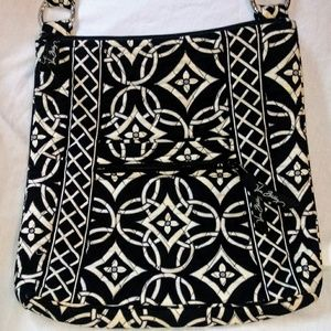 Vera Bradley Black & White Quilted Crossbody Bag